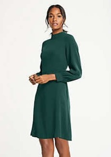 Ann Taylor Mock Neck Flare Dress