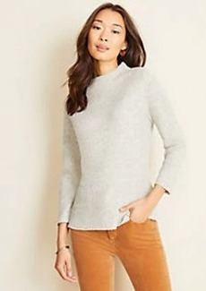 Ann Taylor Mock Neck Peplum Sweater
