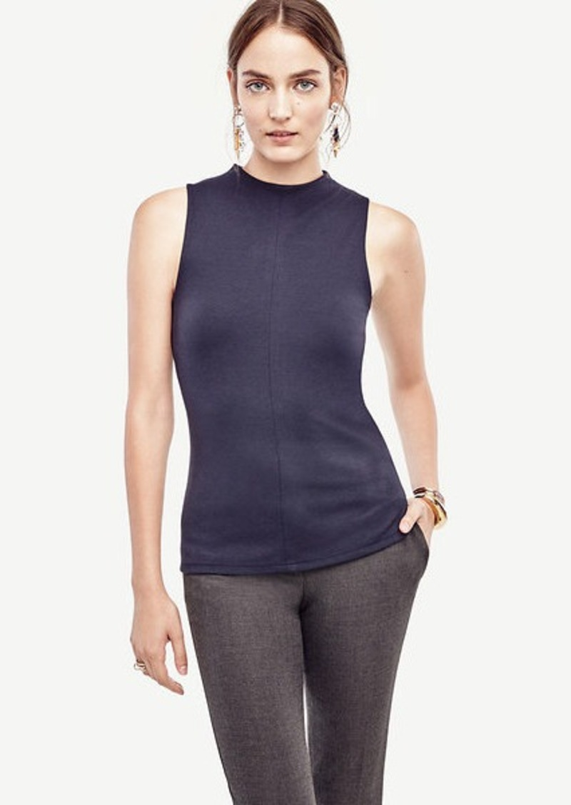 Ann taylor mock neck sleeveless top casual shirts shop for Sleeveless mock turtleneck shirts