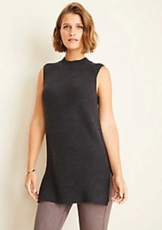 Ann Taylor Mock Neck Sleeveless Tunic Sweater