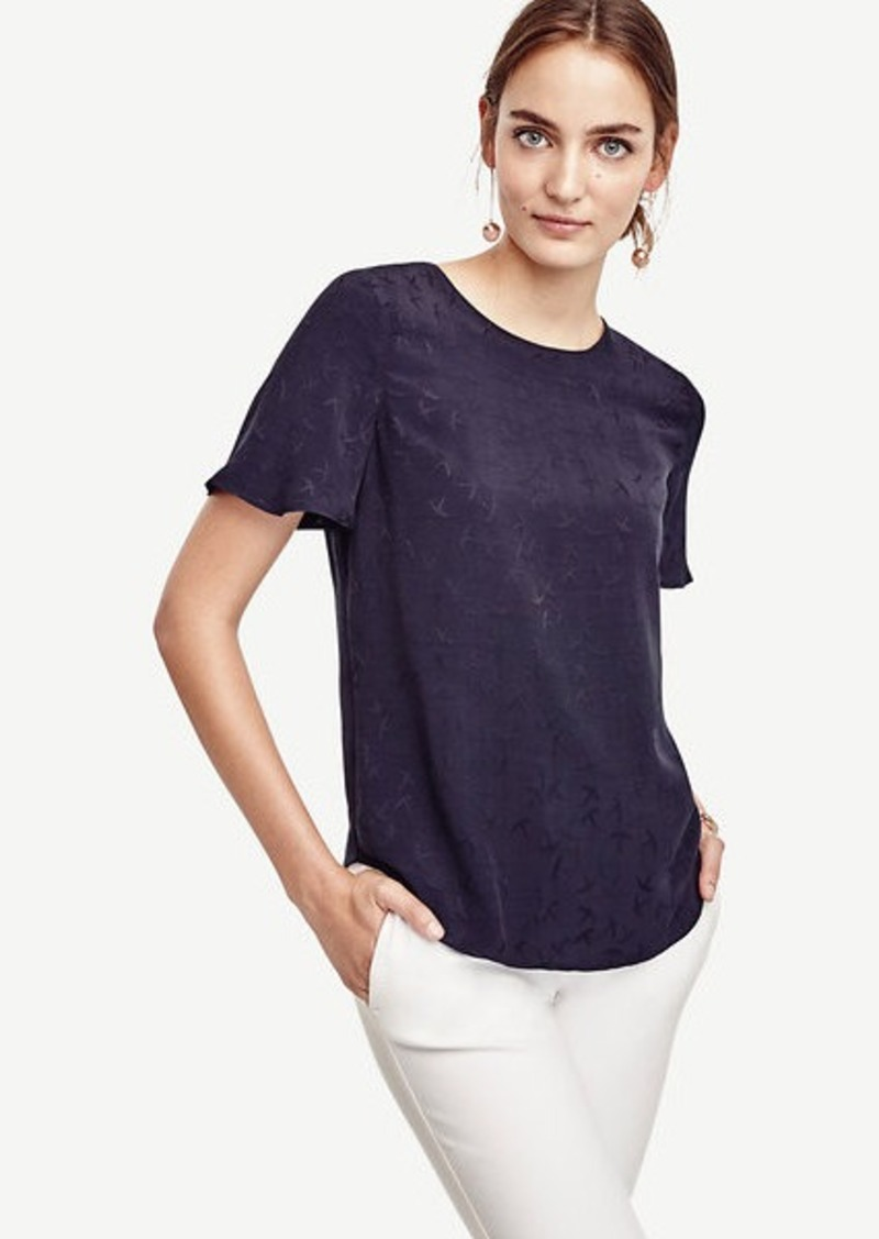 Ann Taylor Mockingbird Polished Tee