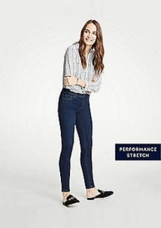 Ann Taylor Modern All Day Skinny Jeans In Mid Indigo Wash