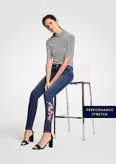 Modern Embroidered Floral All Day Skinny Jeans