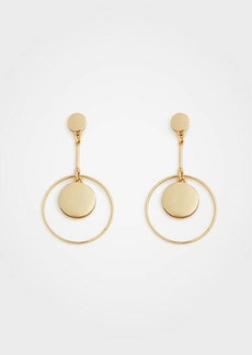 Ann Taylor Modern Metallic Drop Earrings
