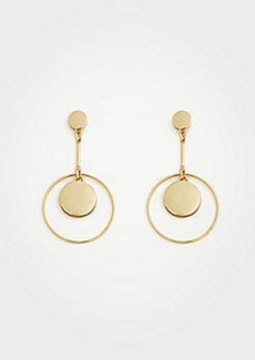 Ann Taylor Modern Metallic Drop Earrings