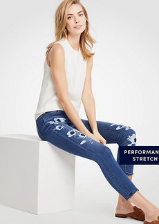 Modern Painted Floral All Day Skinny Crop Jeans