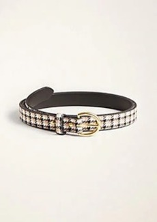 Ann Taylor Modern Plaid Trouser Belt