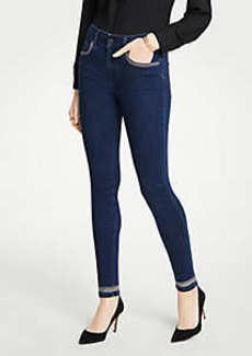 Ann Taylor Modern Shimmer Trim All Day Skinny Jeans