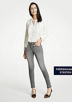 Ann Taylor Modern Skinny Jeans In Mid Grey Wash
