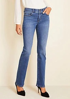 Ann Taylor Sculpting Pocket Slim Boot Cut Jeans in Mid Stone Wash