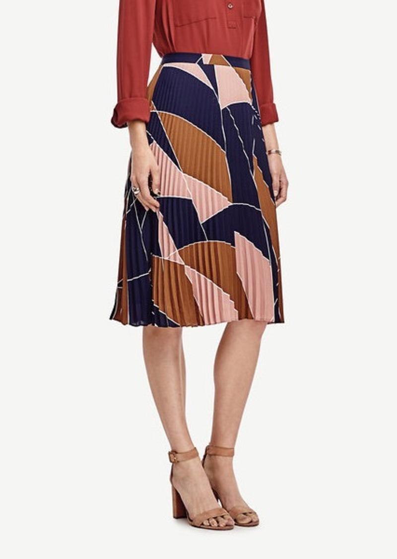 Ann Taylor Mosaic Pleated Skirt