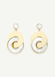 Ann Taylor Mother Of Pearl Disc Earrings
