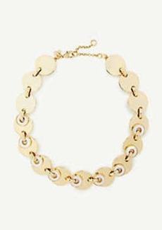 Ann Taylor Mother Of Pearl Disc Statement Necklace