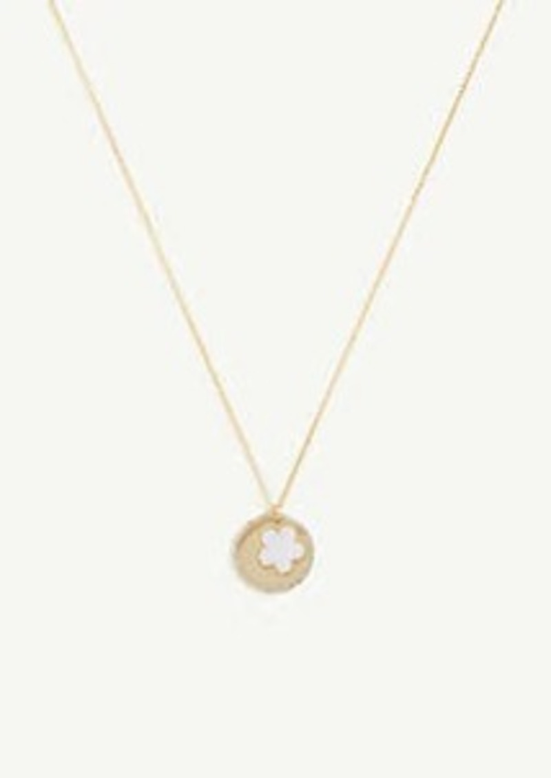 Ann Taylor Mother Of Pearl Flower Pendant Necklace