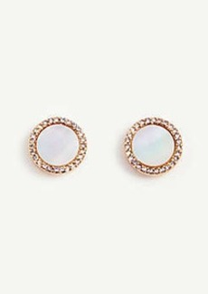 Ann Taylor Mother Of Pearl Flower Stud Earrings