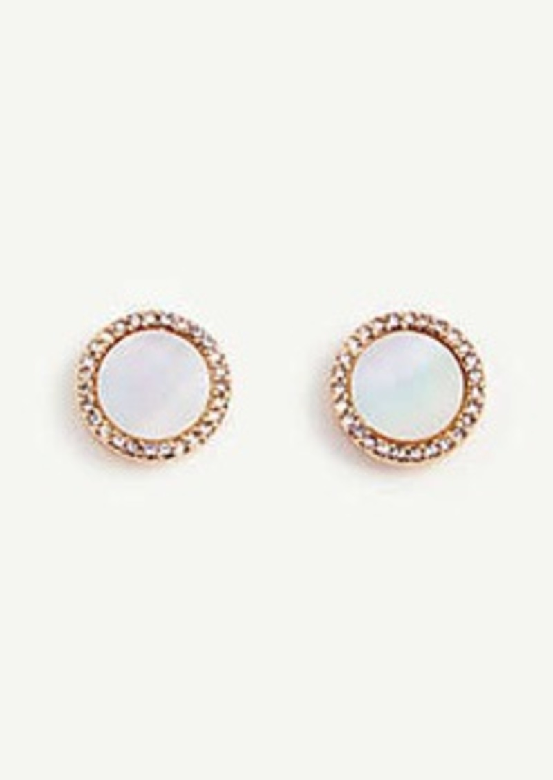 Ann Taylor Mother Of Pearl Flower Stud Earrings