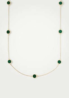 Ann Taylor Circle Disc Station Necklace