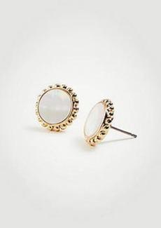 Ann Taylor Mother Of Pearl Stud Earrings