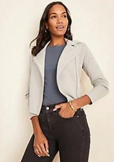 Ann Taylor Moto Sweater Jacket