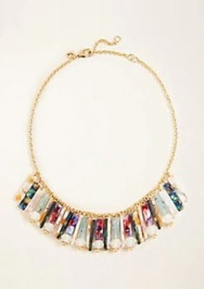 Ann Taylor Multicolored Acetate Fringe Necklace