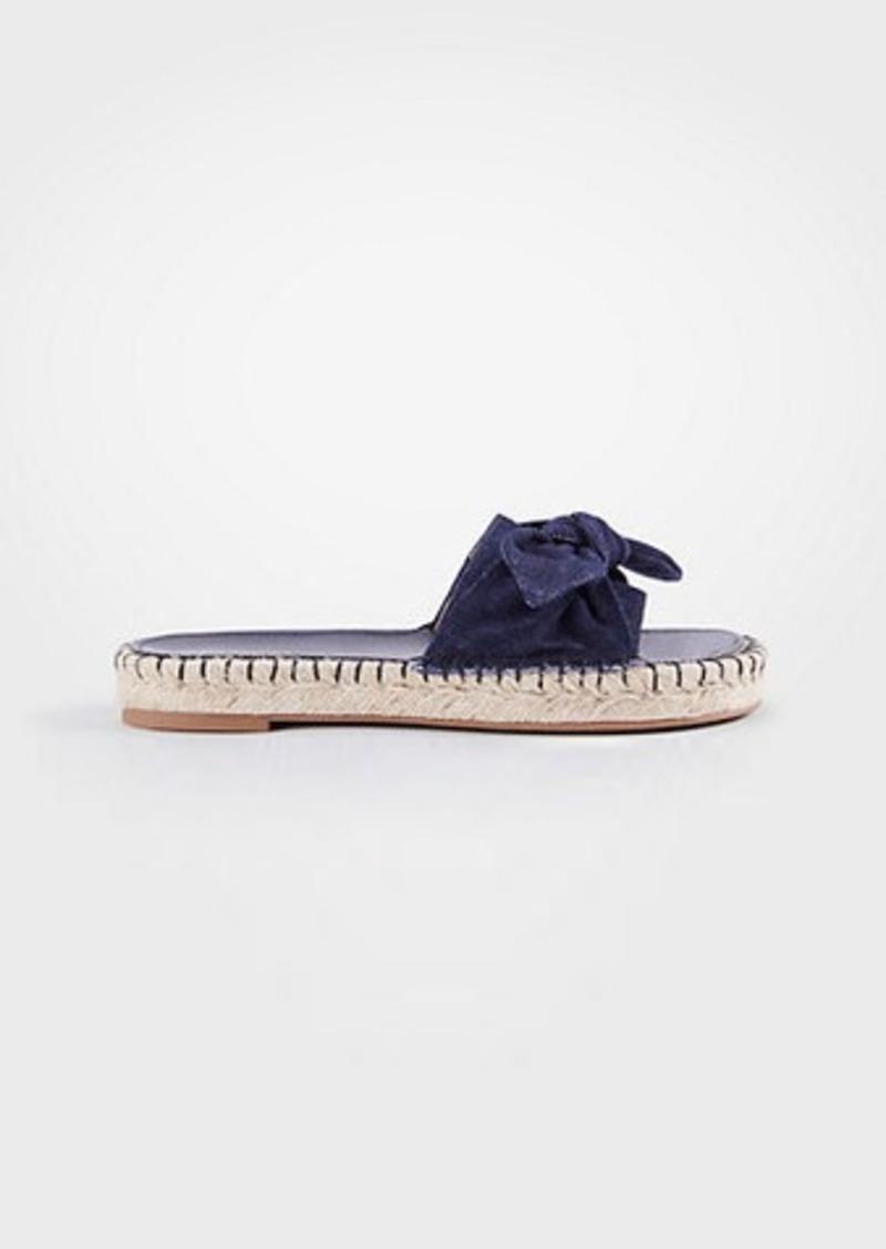 1d2a9e475bf4 Ann Taylor Nellie Denim Bow Espadrille Sandals Now  17.93