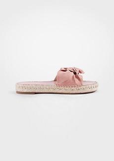 Ann Taylor Nellie Suede Bow Espadrille Sandals