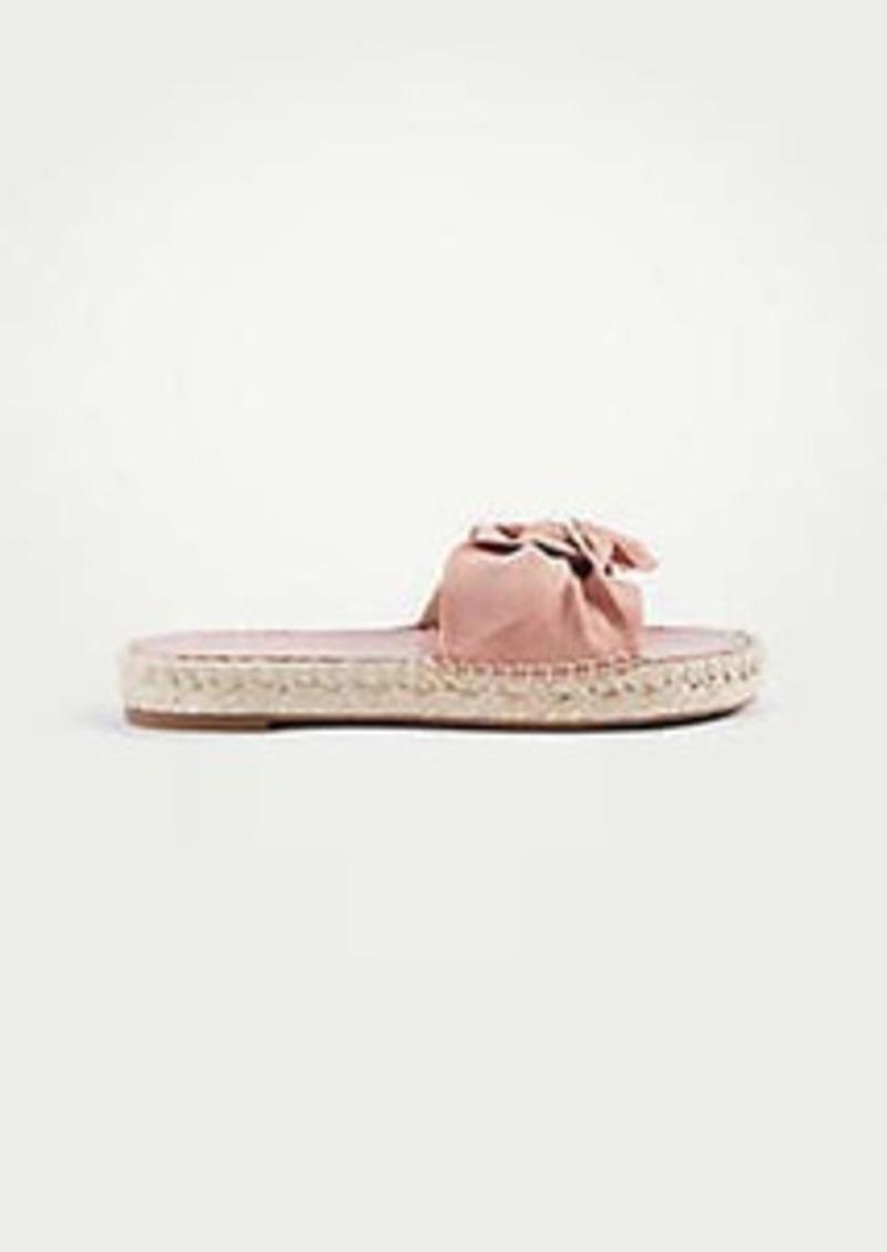 5e7d49c5ac3b Ann Taylor Nellie Suede Bow Espadrille Sandals