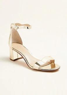 Ann Taylor Nicole Wavy Block Heel Sandals