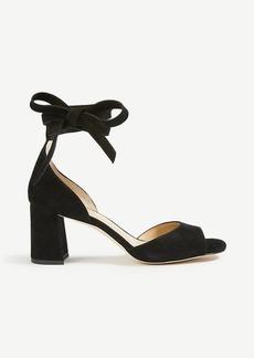 Nika Suede Block Heel Sandals
