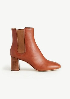 Noemie Leather Heeled Booties