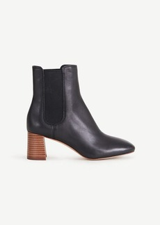 Ann Taylor Noemie Leather Heeled Booties