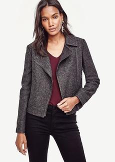 Ann Taylor Notched Wool Blend Moto Jacket