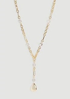 Ann Taylor Nugget Beaded Pendant Necklace