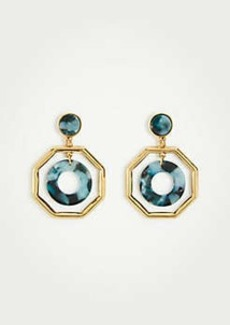Ann Taylor Octagon Tortoiseshell Print Drop Earrings