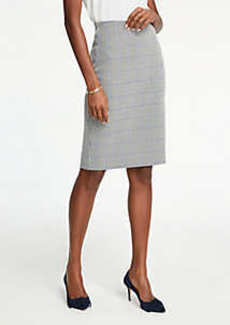 Ann Taylor Petite Plaid Pencil Skirt