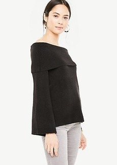 Ann Taylor Off The Shoulder Bell Sleeve Sweater