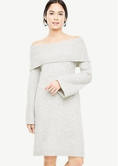 Off The Shoulder Bell Sleeve Sweater Dress