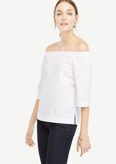 Off The Shoulder Poplin Top