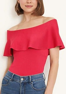 Ann Taylor Off the Shoulder Ruffle Pullover