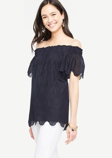 Off The Shoulder Scalloped Top