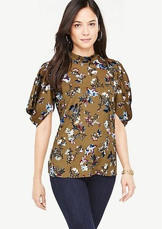 Opulent Floral Puff Sleeve Top