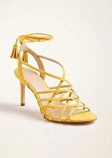 Ann Taylor Oren Suede Heeled Sandals