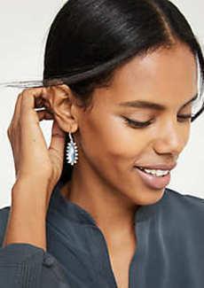 Ann Taylor Oval Bezel Drop Earrings