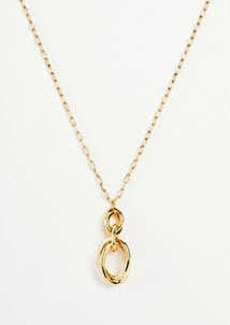 Ann Taylor Oval Knot Pendant Necklace