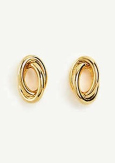 Ann Taylor Oval Knot Stud Earrings