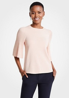Ann Taylor Petite Pleated Sleeve Sweater