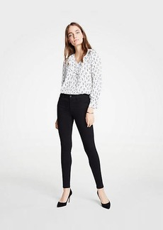 Ann Taylor Petite Modern All Day Skinny Jeans in Black
