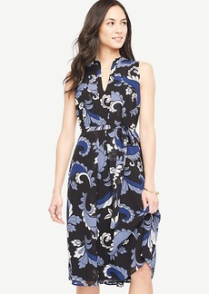 Ann Taylor Paisley Flare Midi Dress