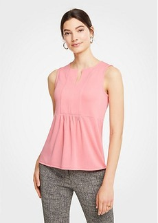 Ann Taylor Paneled Split Neck Shell