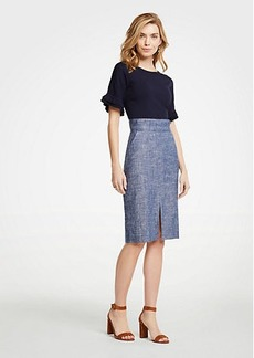 Ann Taylor Chambray Pencil Skirt